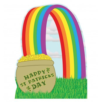 Pot of Gold with Rainbow Cardboard Cutout
