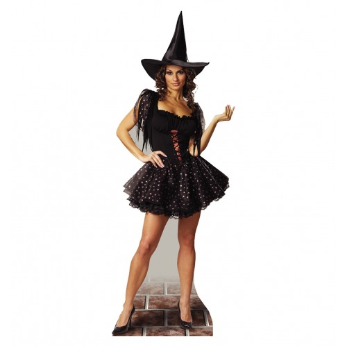 Glitter Witch Cardboard Cutout