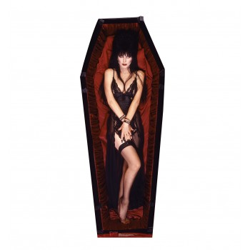 Elvira Coffin Cardboard Cutout - $39.95