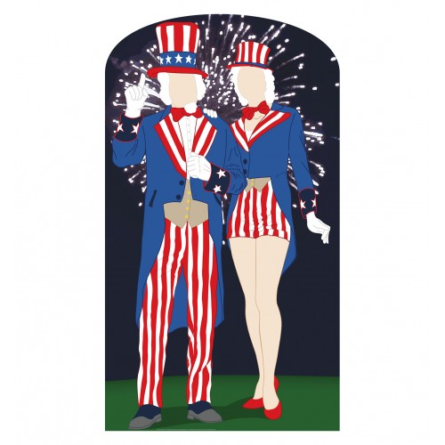 Aunt and Uncle Sam Standin Cardboard Cutout