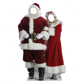 Santa, and Mrs Claus Standin Cardboard Cutout - $39.95