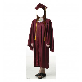 Female Graduate Red Cap, and Gown Standin Cardboard Cutout - $39.95