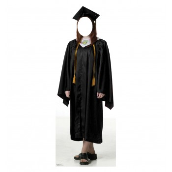 Female Graduate Black Cap, and Gown Standin Cardboard Cutout - $39.95