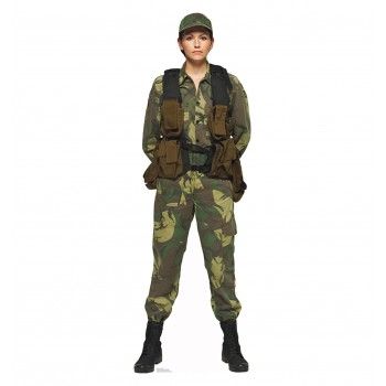 Female Solider Cardboard Cutout