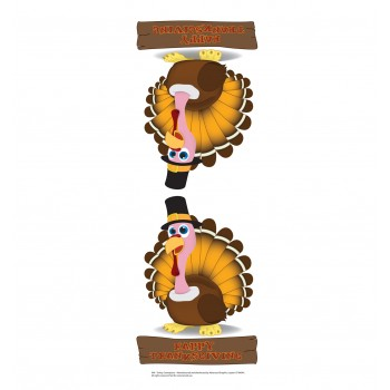 Turkey Centerpiece Cardboard Cutout