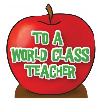 Teacher s Appreciation Apple Cardboard Cutout - $24.95