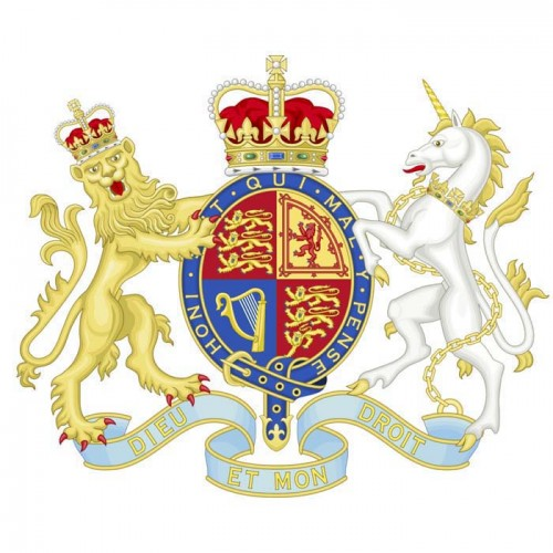 English Coat of Arms British Cardboard Cutout