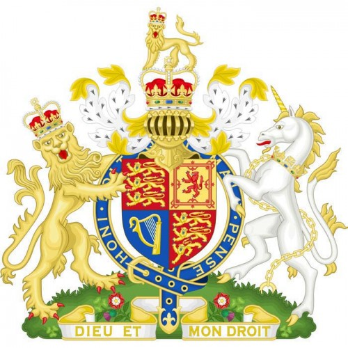 Royal Family Coat of Arms Cardboard Cutout