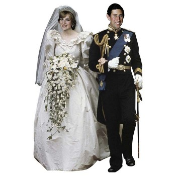 Charles and Diana Cardboard Cutout - $0.00