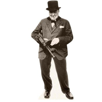 Winston Churchill Cardboard Cutout - $0.00