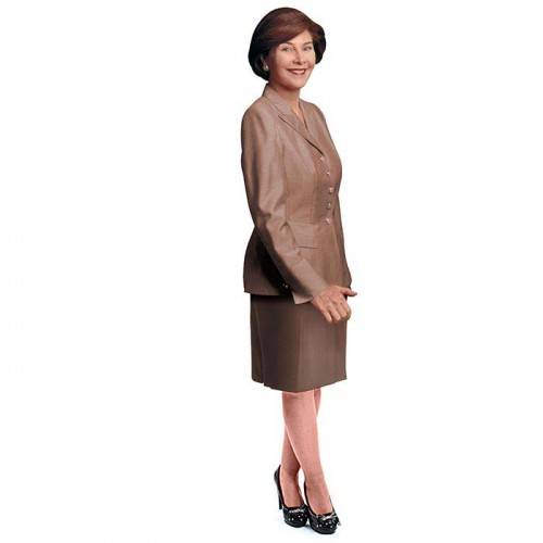 Laura Bush Cardboard Cutout
