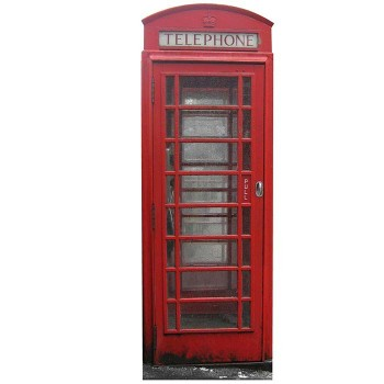 British Telephone Booth Cardboard Cutout - $0.00