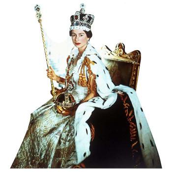 Queen Elizabeth II Coronation Cardboard Cutout - $0.00