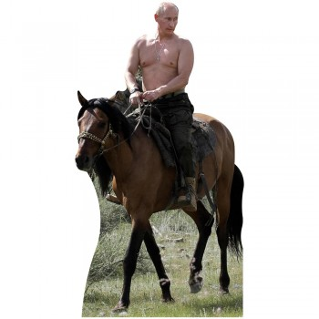 Shirtless Putin Riding Horse Cardboard Cutout - $0.00