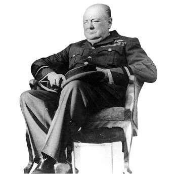 Winston Churchill 2 Cardboard Cutout - $0.00