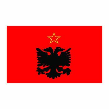 Albania Flag Cardboard Cutout - $0.00