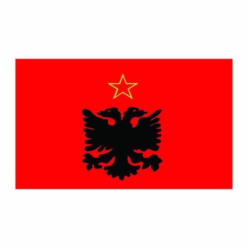 Albania Flag Cardboard Cutout