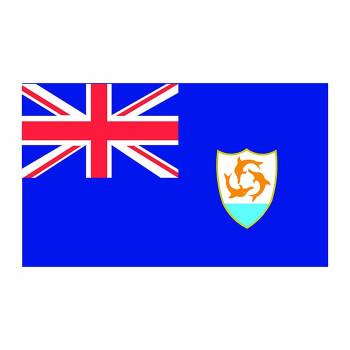 Anguilla Flag Cardboard Cutout