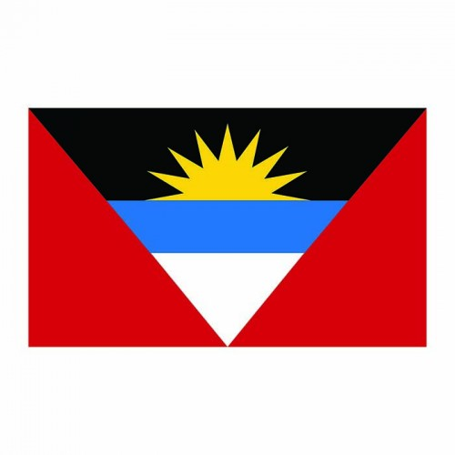 Antigua Flag Cardboard Cutout