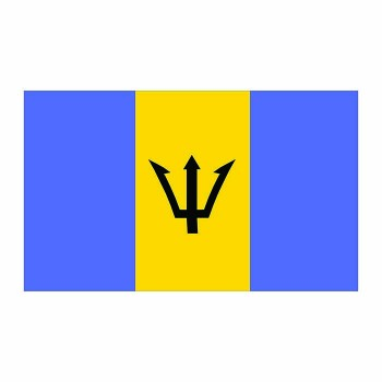 Barbados Flag Cardboard Cutout