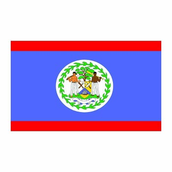 Belize Flag Cardboard Cutout - $0.00