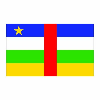 Central African Republic Flag Cardboard Cutout - $0.00
