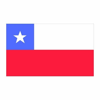 Chile Flag Cardboard Cutout - $0.00