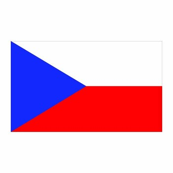 Czech republic Flag Cardboard Cutout - $0.00