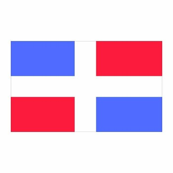 Dominican Republic Flag Cardboard Cutout - $0.00
