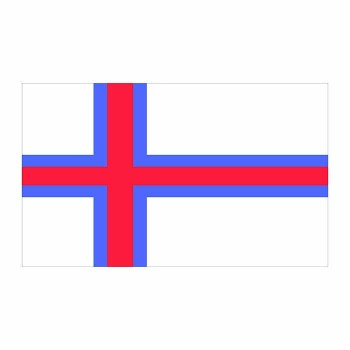 Faroe Islands Flag Cardboard Cutout - $0.00