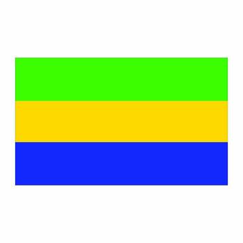 Gabon Flag Cardboard Cutout - $0.00