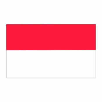 Indonesia Flag Cardboard Cutout - $0.00