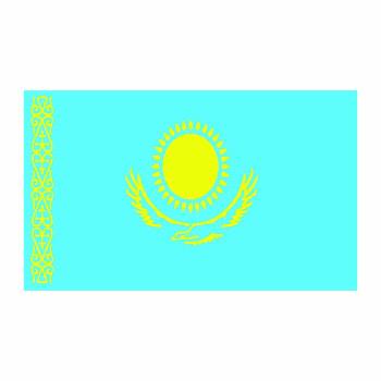 Kazakhstan Flag Cardboard Cutout - $0.00