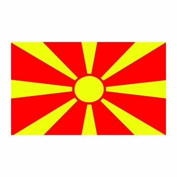 Macedonia Flag Cardboard Cutout