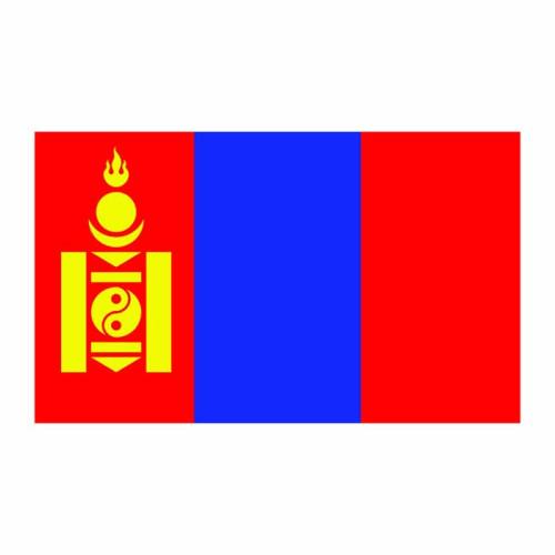 Mongolia Flag Cardboard Cutout
