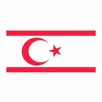 North Cyprus Flag Cardboard Cutout - $0.00