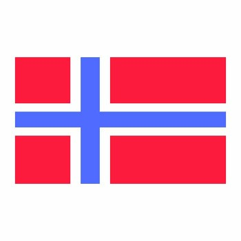 Norway Flag Cardboard Cutout - $0.00