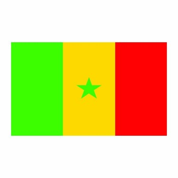 Senegal Flag Cardboard Cutout