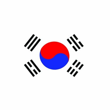 South Korea Flag Cardboard Cutout