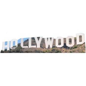 Hollywood Sign Cardboard Cutout - $0.00