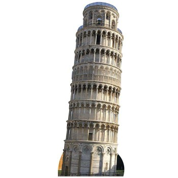 Leaning Tower of Pisa Cardboard Cutout - $0.00