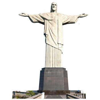 Christ the Redemer Statue Cardboard Cutout