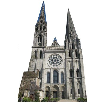 Chartres Cathedral Cardboard Cutout - $0.00