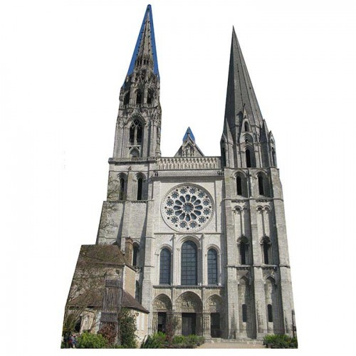 Chartres Cathedral Cardboard Cutout