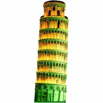 Leaning Tower of Pisa 2 Cardboard Cutout - $0.00