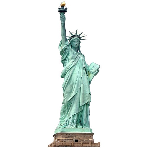 Statue of Liberty NO BASE Cardboard Cutout