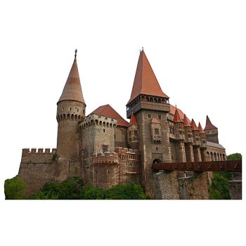 Hunyad Castle Haunted Cardboard Cutout