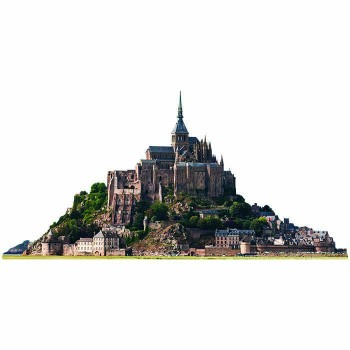Mont St Michel Haunted Cardboard Cutout