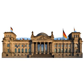 Reichstag Building Haunted Cardboard Cutout - $0.00