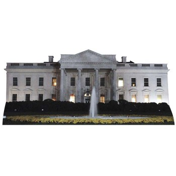 White House Night Cardboard Cutout - $0.00